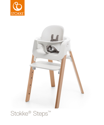 Stokke® Steps™ Стол 6+ месеца - цвят White / Natural