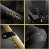 Stokke® Xplory® GOLD Limited Edition - цвят Black + Бебешки кош