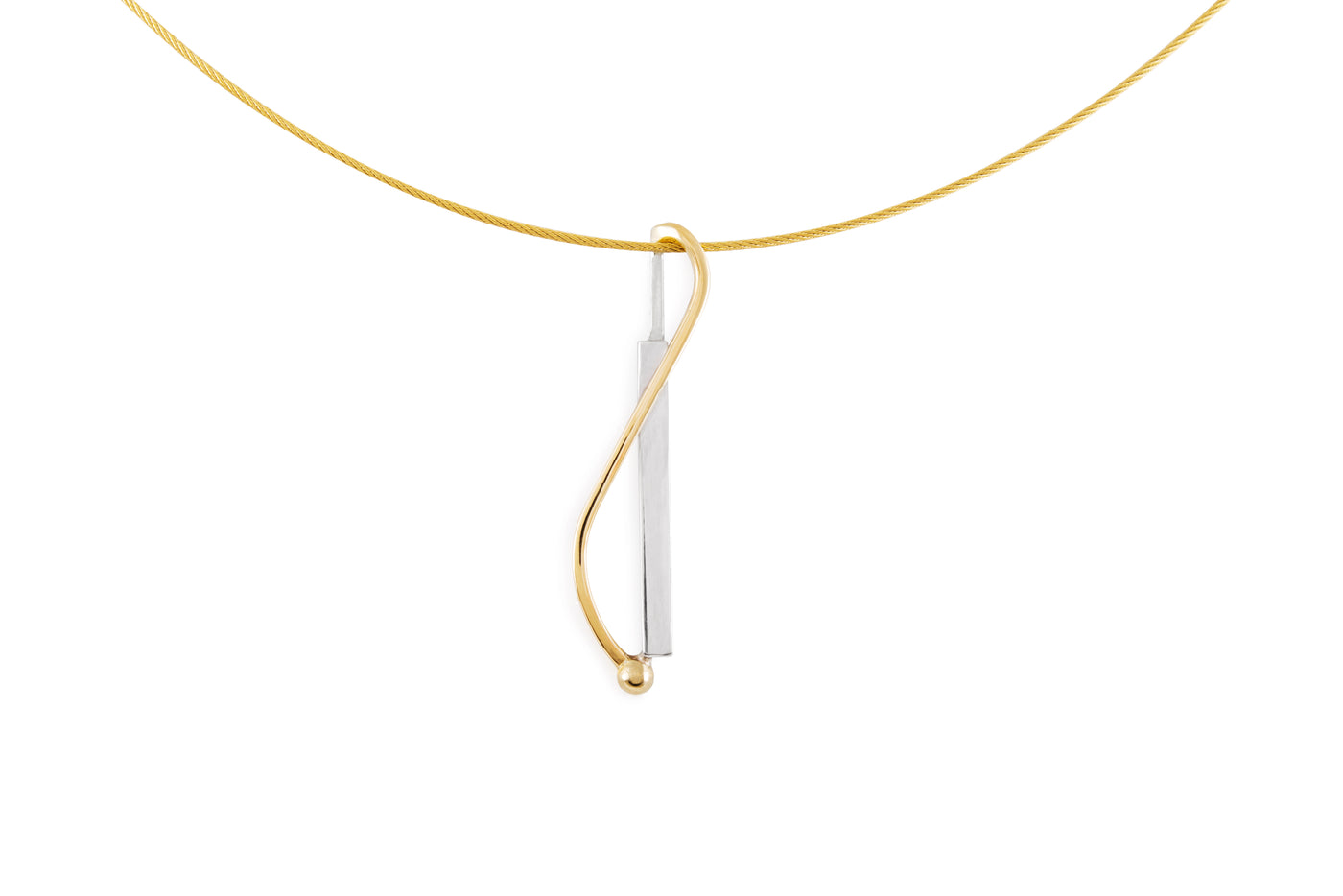 "Pendentif vertical petit collection ""Un point c'est tout"" - Maud Herbage Jewellery Design"