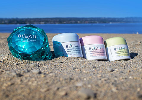 Summer skincare with Glacial Oceanic Clay face masks