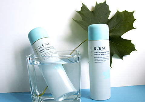 Summer skincare with Glacial Oceanic Mineral Water infused Hydrate Collection Glacial Mineral Toner