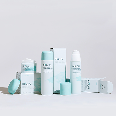 Glacial Oceanic Mineral Water infused Hydrate Collection skincare products