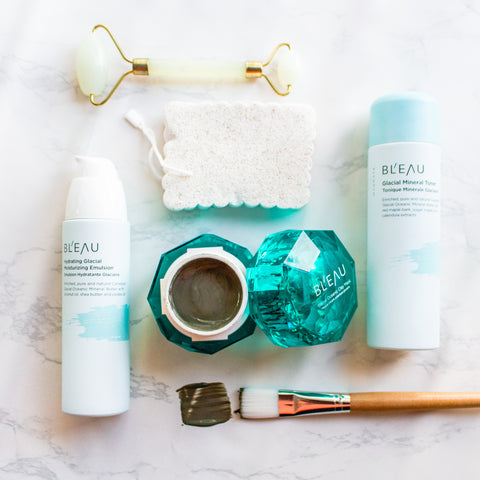 Glacial Oceanic Clay Fall Limited Edition skincare products