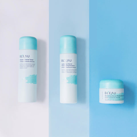 Glaical Oceanic Mineral Water infused Hydrate Collection for fall skincare routine