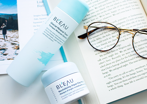 Bl'eau glacial oceanic clay skincare mother's day promotion