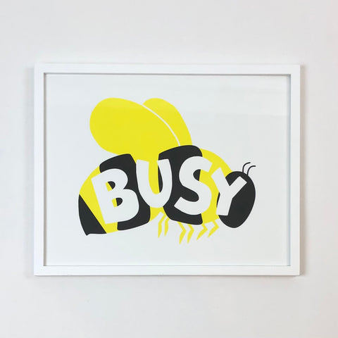 Busy Bee Art Print