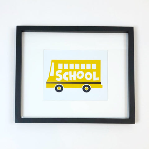School Bus Art Print