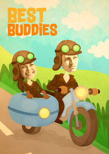 """Buddy Bike"" Personally Illustrated Poster"