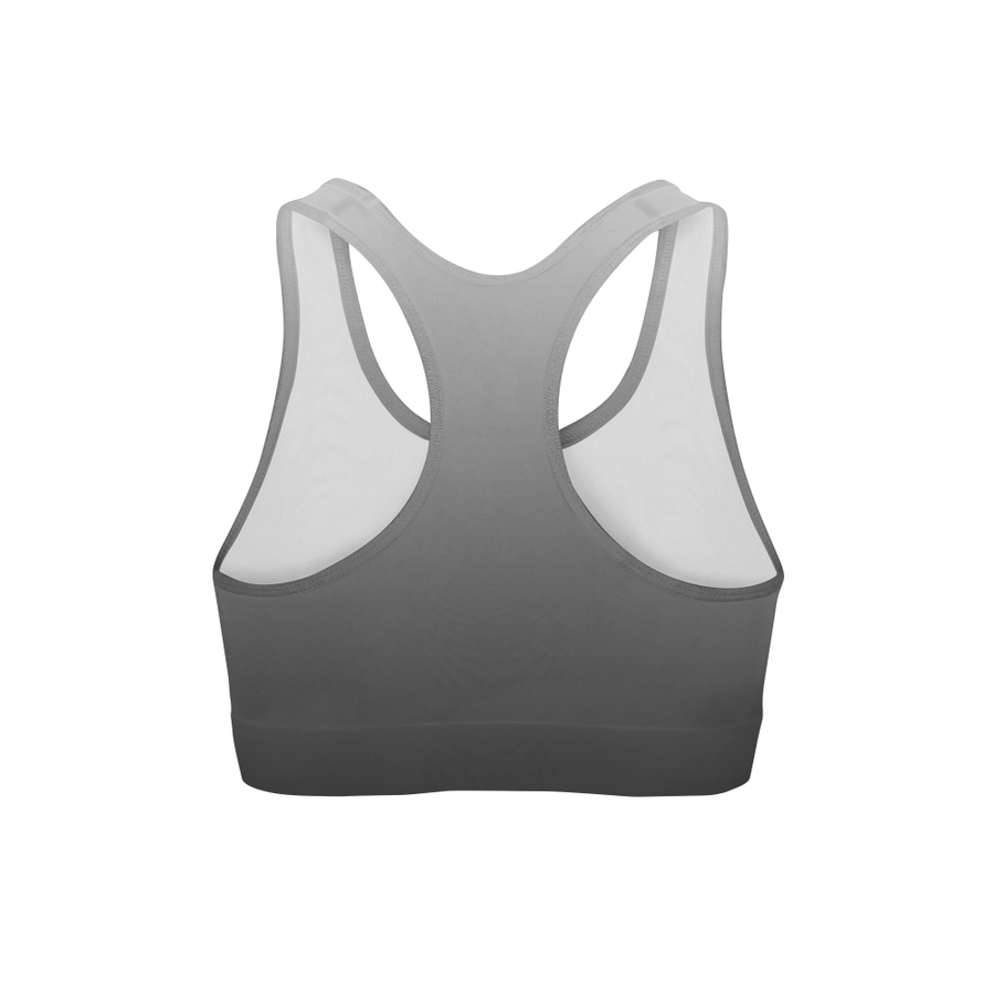 Aphrodite White Black Ombre Sports Bra by Dream Athletic - DreamAthletic