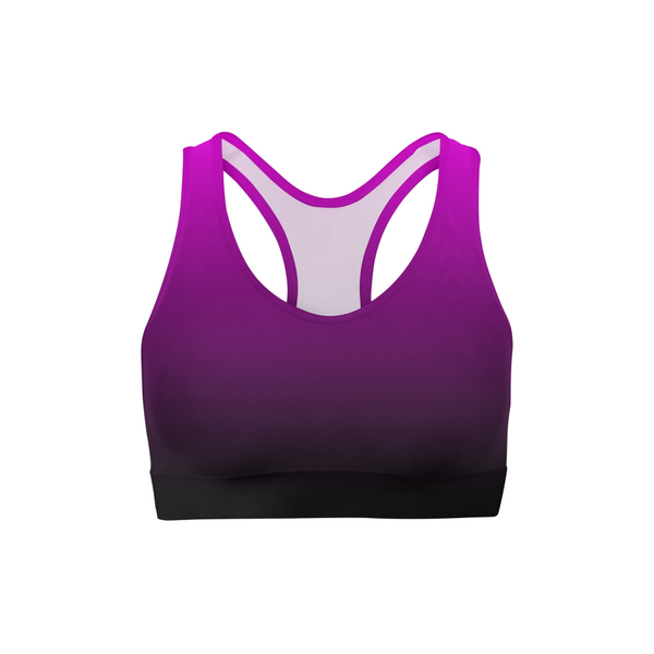 Aphrodite Pink Ombre Sports Bra by Dream Athletic