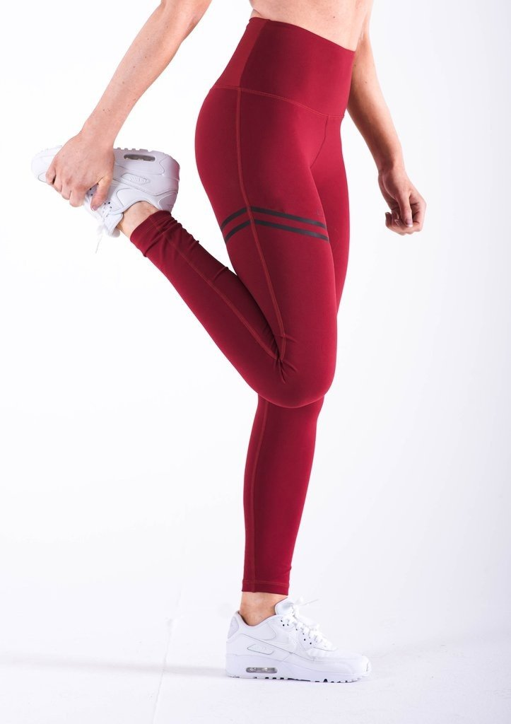Thigh Striped Fitness Leggings