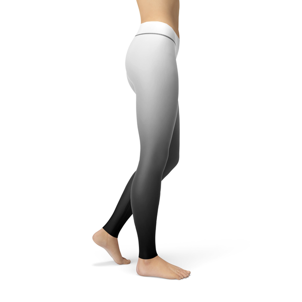 Athena White Ombre Leggings by Dream Athletic