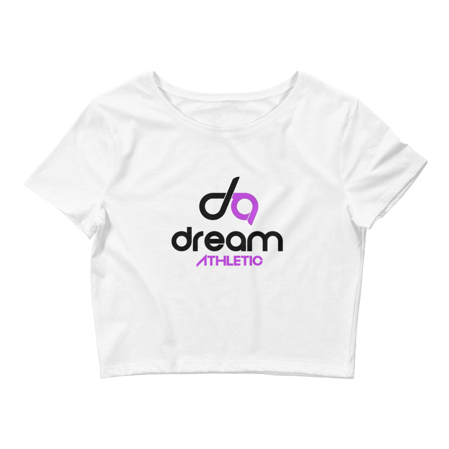 Dream Athletics White Crop Tee