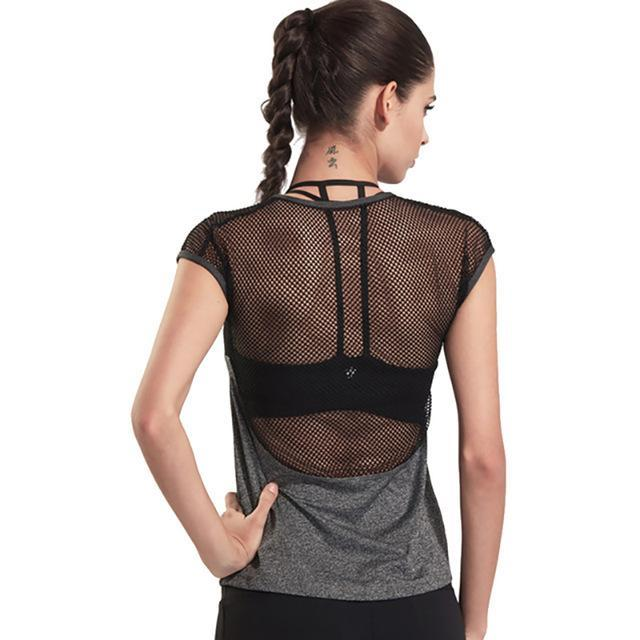 Meshed Back Fitness Top - DreamAthletic