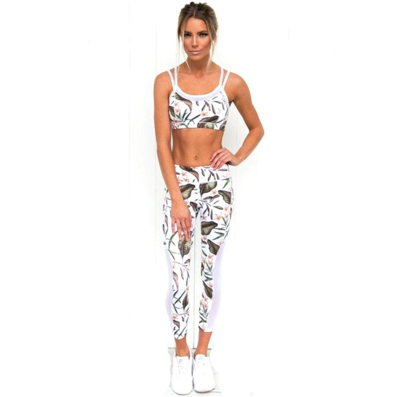 Leaf Printed Running Set - DreamAthletic