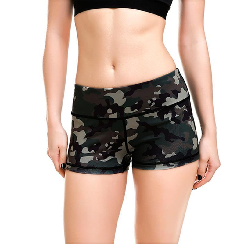 Elastic Camouflage Exercise Shorts - DreamAthletic