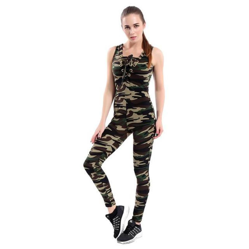 Camouflage Printed Sports Yoga Set