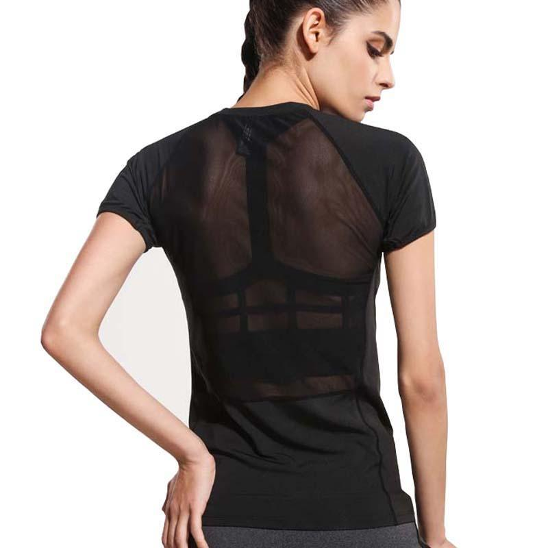 Short Sleeve Meshed Back Fitness Top - DreamAthletic