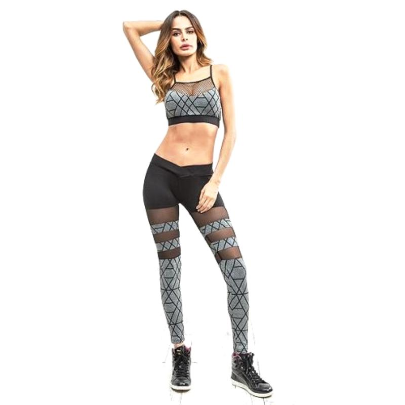 Lattice Stitching Design Yoga Set - DreamAthletic