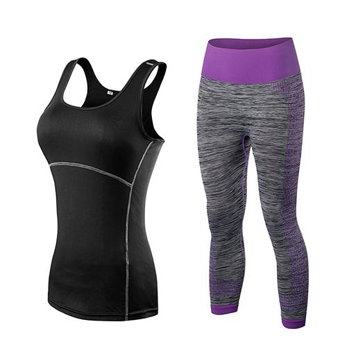 Athletic Tank Top and Leggings Set