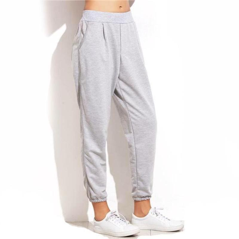 Elastic Cuffed Mid Waist Sweatpants - DreamAthletic
