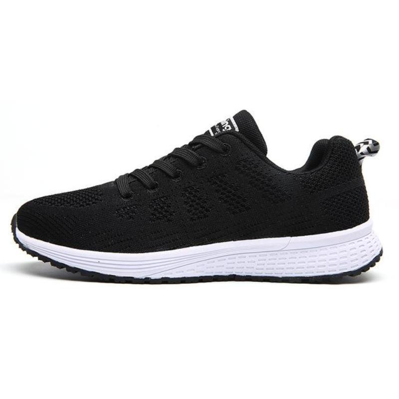 Breathable Lace-Up Running Sneakers