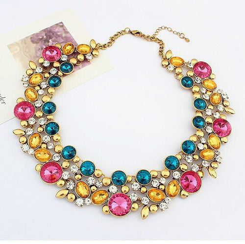 Vintage Choker Gemstone Necklace