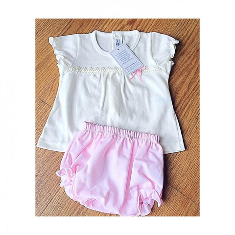 Dresses - Coco Pink Bloomer Set