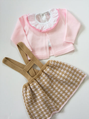 Pink and Camel H-Bar KnitWear