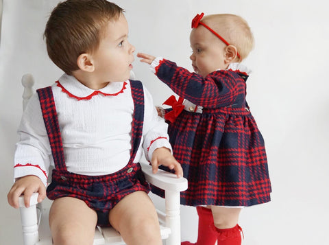 Baja Costura Boys Tartan Set
