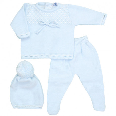 Three Piece Baby Blue Set