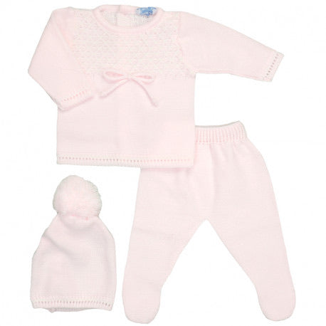 Three Piece Baby Pink Set