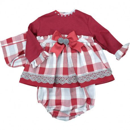 Three piece red checkered set