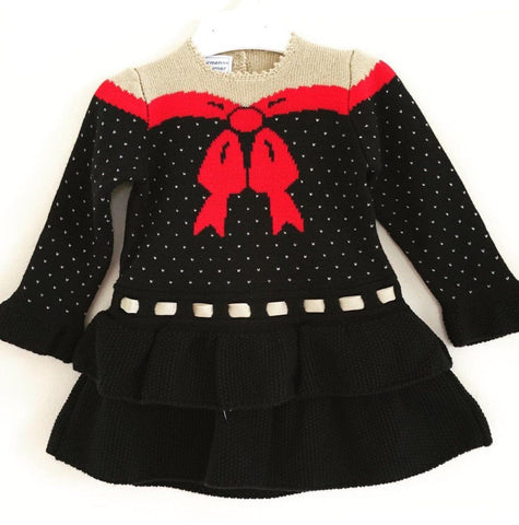 Knitwear - Girls Festive Knitted Dress