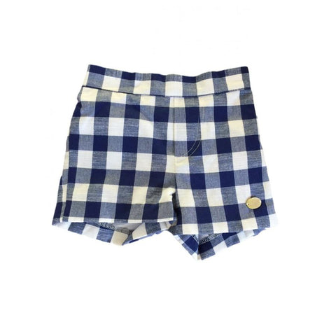 Outfits - Navy Gingham Shorts