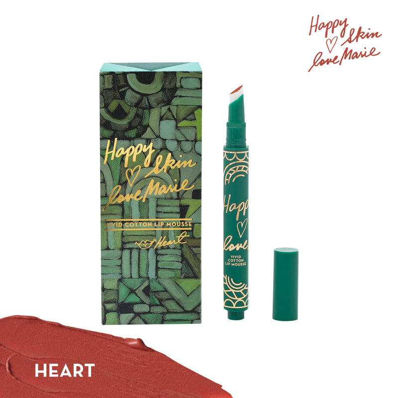 Happy Skin x Love Marie Vivid Cotton Lip Mousse in Heart - THEKULT.COM | Happy Skin