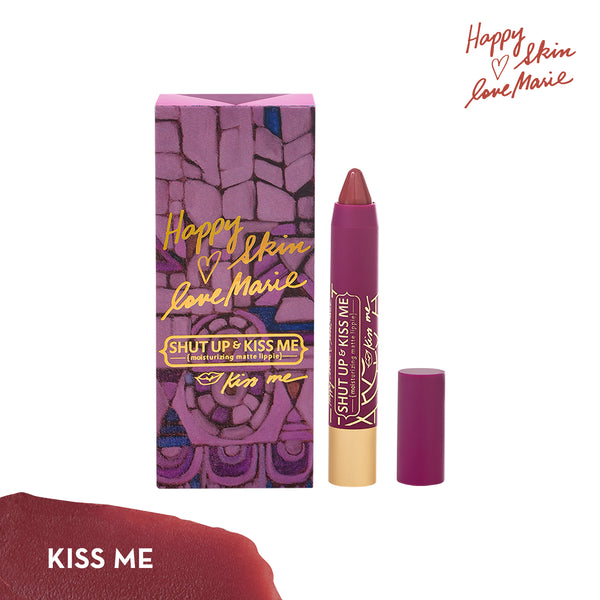 THEKULT.COM. Happy Skin. Happy Skin x Love Marie Shut Up & Kiss Me Moisturzing Matte Lippie in Kiss Me