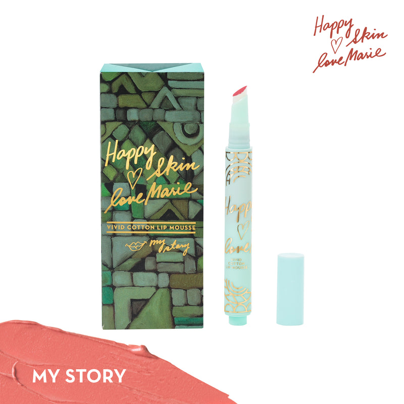 Happy Skin x Love Marie Vivid Cotton Lip Mousse in My Story - THEKULT.COM | Happy Skin