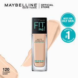 Fit Me Matte + Poreless Liquid Foundation 120 Classic Ivory - THEKULT.COM | Maybelline