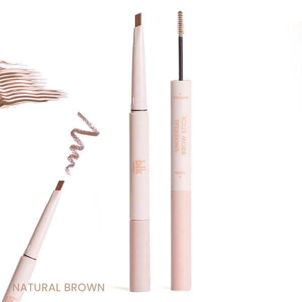 THEKULT.COM. BLK Cosmetics. Blk Cosmetics Brow Stick (Pencil + Mascara) in Natural Brown