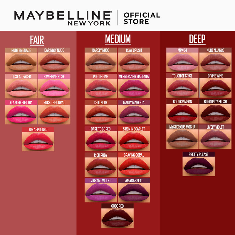 Color Sensational Creamy Matte Burgundy Blush - THEKULT.COM | Maybelline