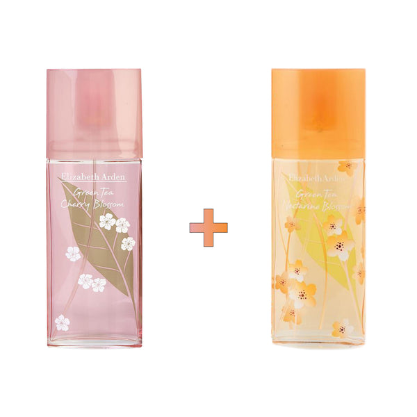 Green Tea Cherry Blossom x Nectarine Blossom EDT Spray Bundle