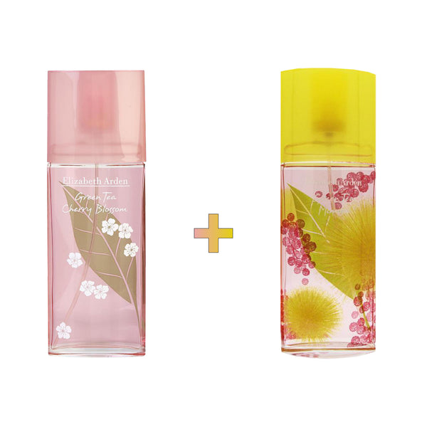 Green Tea Cherry Blossom x  Mimosa EDT Spray Bundle