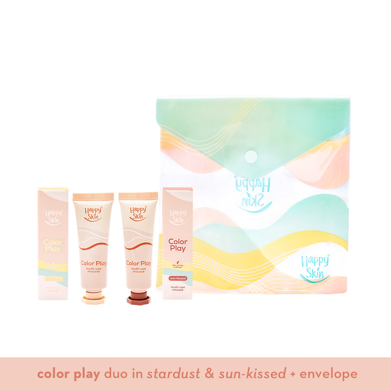 Happy Skin Color Play Duo - Sun-kissed & Stardust Holiday Set - THEKULT.COM | Happy Skin