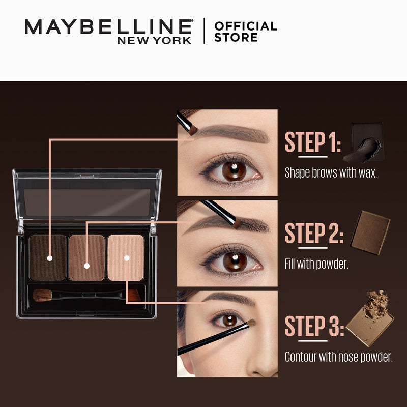 Fashion Brow Palette Brown - THEKULT.COM | Maybelline