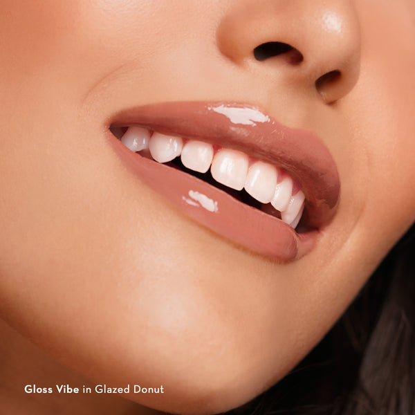 Gloss Vibe Cooling Lip Gloss in Glazed Donut