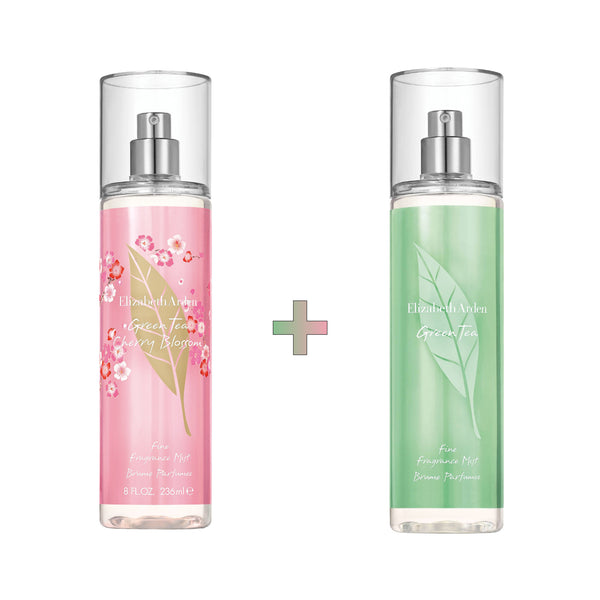 Green Tea x Cherry Blossom Fragrance Mist Set