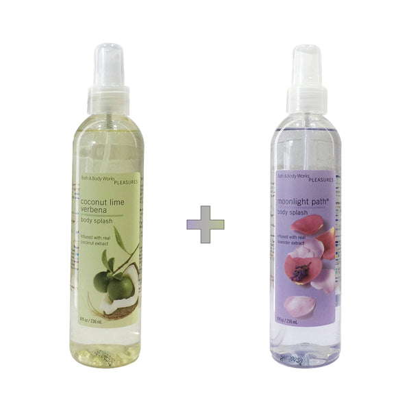 Coconut Lime Verbena x Moonlight Path Body Splash Set
