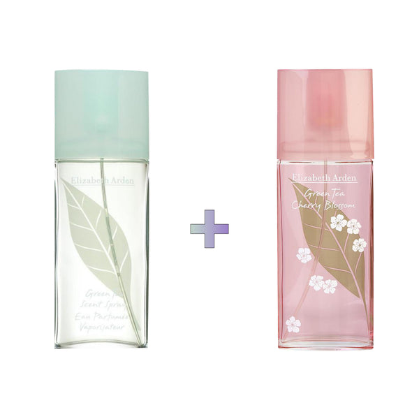 Green Tea Cherry Blossom x Green Tea EDT Spray Bundle