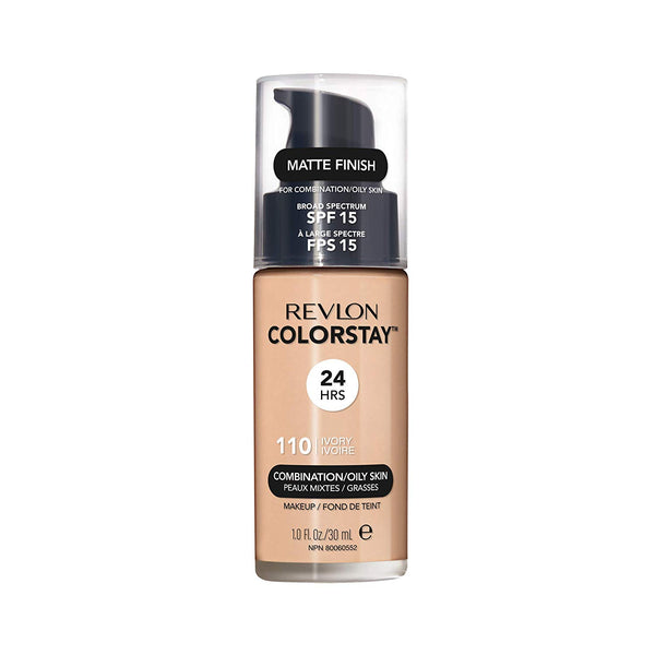 Colorstay 24Hrs SPF15 Combination/Oily Skin l #110 Ivory Pump - THEKULT.COM | Revlon